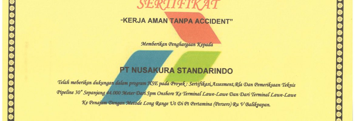 Safety Award Sertifikasi, RLA, & Re-engineering Pipa Penyalur