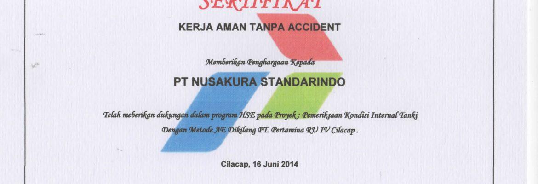 Safety Award Pemeriksaan Tangki dengan Metode AE